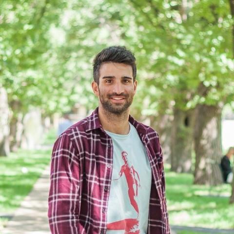 A man smiling at the camera.