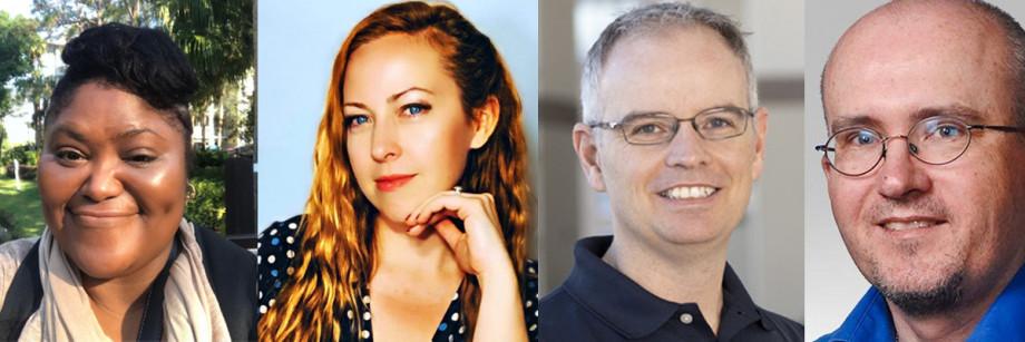 Four headshots of MathWorks TechTake speakers