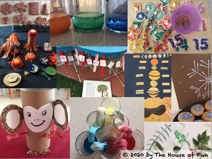 A collage of STEAM projects.