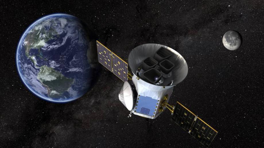 TESS satellite in space