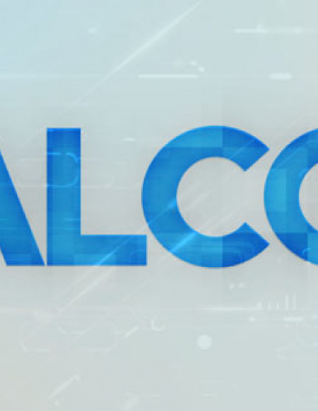 The letters A, L, C and G in blue on a translucent background showing computer imagery.