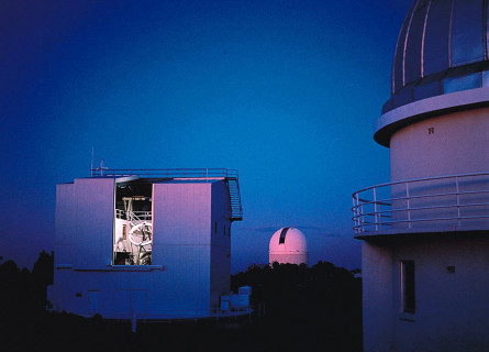The Australian National University's 2.3m telescope at Siding Spring Observatory in northwest New South Wales.