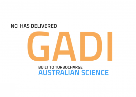 Gadi supercomputer title card