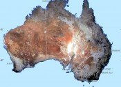 Map of Australia showing bare ground.