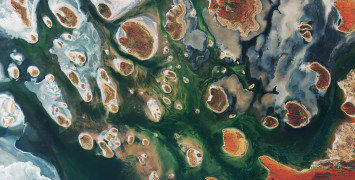 Aerial image of Lake Mackay.