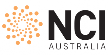 The NCI logo, a swirl of orange dots with the words NCI Australia written in bold capital letters.